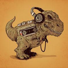 Hilarious Icons of Prehistoric Technology by Alex Solis Alex Solis, Character Concept, Concept Art, Day Of The Shirt, Desenho Tattoo, Dinosaur Art, Tyrannosaurus, Arte Pop, T Rex