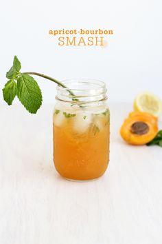 Apricot Bourbon Smash Apricot Bourbon Smash Cocktail