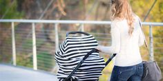 JLIKA Modern Multi Use Stretchy Baby Car Seat Covers and Nursing Cover. Fashionable accessories for mom and baby.