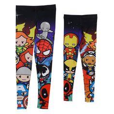 Kawaii Marvel Character Deadpool Spiderman Venom Licensed Leggings S-XL