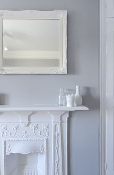 Chic shadow paint at Spare Room at things{we}make Chic Shadow Bedroom, Dulux Chic Shadow, Bedroom Wall Colors, Chic Shadow Dulux Living Room, Bedroom Ideas, Bedroom Inspo, Cast Iron Fireplace, Old Room, Recipes