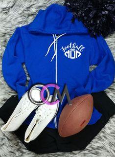 Football Mom Sweatshirt, Football Mom Jacket, Football Mama Sweatshirt, Ladies Football Sweatshirt- Sweatshirt - One Crafty Momma Football Shirt Designs, Football Mom Shirts, Women's Football, Cameo Cutter, Cricut Air, Silhouette Cameo Projects, Hoodies, Sweatshirts, Onesie