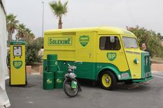 Citroen H BP Citroen Type H, Citroen H Van, Commercial Van, Commercial Vehicle, Catering Van, Citroen Traction, Vintage Gas Pumps, Small Trucks, Old Gas Stations