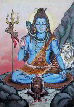 Lord Shiva and lingam by KamaliOm.deviantart.com