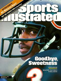 Publication Date: November Illustrated CoverFootball: Closeup of Chicago Bears Walter Payton before game vs New Orleans Saints at. Bears Football, Nfl Chicago Bears, Football Players, Baseball, Football Rules, Football Uniforms, Football Baby, Chicago Bears Pictures, Sports Illustrated Kids
