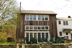 Wilsondale Carriage House addition eclectic exterior using recycled Barn Board