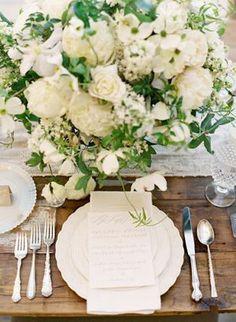 REVEL: Wedding Inspiration: Cream + White