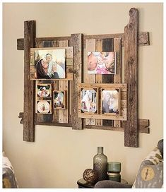 Enjoy the rich character of recycled wood in the crafty designs inside Do-It-Yourself Pallet Projects from Leisure Arts. The unique home accessories and gifts are all easy to create from used wood shipping pallets or unfinished pallet-style wood pieces pu Pallet Home Decor, Wooden Pallet Projects, Pallet Crafts, Diy Pallet Furniture, Diy Furniture Projects, Wooden Pallets, Diy Home Decor, Diy With Pallets, Pallet Decorations