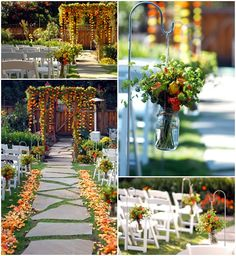 Gorgeous DIY Backyard Wedding!   via fancypantsweddings.com