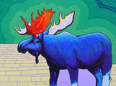 Big Blue by Joe Triano great style! Colorful Animals, Blue Canvas, Blue Art, Wildlife Art, Canvas Prints, Art Prints, Native American Art, Great Artists, Fine Art America