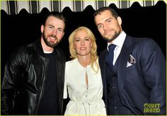 Chris Evans & Henry Cavill Bring Their Super Good Looks to W Mag's Pre-Golden Globes Party 2015 | chris evans henry cavill w mag golden globes party 09 - Photo