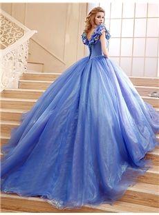 華やかふんわりAライン姫ロング披露宴ドレス