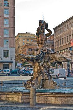 Fontana del Tritone di Piazza Barberini - Rome
