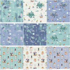 Disney Tinkerbell Peter Pan Purple 100/% Cotton Fabric 1//2 Metre *Free P /& P*