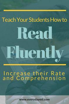 Reading Fluency | Reading Rate | Reading Comprehension | Adult ESL | Teach ESL