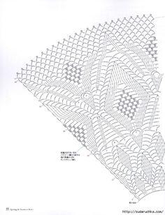 Crochet Wonders: Shawls and Crochet Shawl Crochet Yoke, Crochet Skirts, Crochet Collar, Crochet Borders, Crochet Diagram, Crochet Stitches Patterns, Crochet Chart, Crochet Clothes, Sewing Patterns