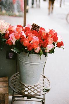 Loving Parisian flower shops.
