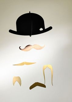 Mr. Moustache Special Edition Mobile in Gold, $36.00 from Jaell & Tofta