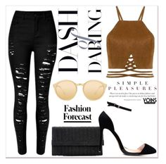 """""""FASHION FORECAST x YOINS"""" by gigi-lucid ❤ liked on Polyvore featuring Linda Farrow, yoins, yoinscollection and loveyoins"""