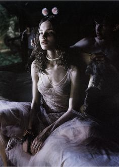 """Natalia Vodianova in """"Fable Attraction"""" by Carter Smith for W May 2002"""
