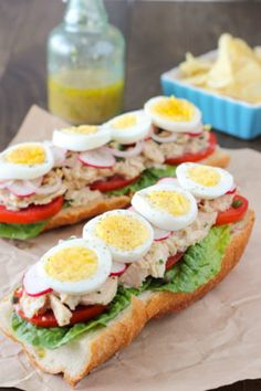 A tuna sandwich that will amaze you. It's full of flavor and freshness, bright acidic notes, and lots of phenomenal textures flavors. Canned Tuna Recipes, Cooking Recipes, Healthy Recipes, Seafood Recipes, Sushi Recipes, Tuna Sandwich Recipes, Nicoise, Wrap Sandwiches, Easy Dinner Recipes