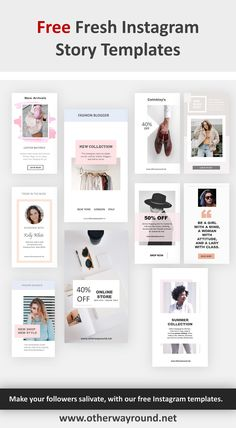 In this post, I share 10 Fresh Instagram Story templates to Make Stories like a Pro. Go ahead and download this bundle that will help you to take your Instagram Stories to the next level. Free Instagram, Instagram Tips, Instagram Feed, Instagram Templates, Instagram Story Template, Social Media Quotes, Social Media Graphics, Creative Instagram Stories, Graphic Design Tutorials