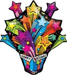 "35"" Shooting Star Birthday Present-P Foil Balloon"