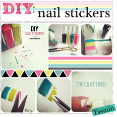 """""""DIY: Nail Stickers!"""" by hipstertipsters ❤ liked on Polyvore"""