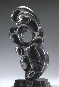 I like this kind of natural shape .Rhythm abstract stone sculpture by Pamela Soldwedel   Marble, Aluminum