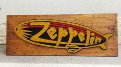 Zeppelin StringArt https://www.facebook.com/RealArtCraft/