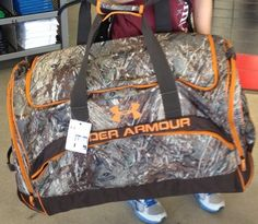 Under Armour GIANT Camo Camouflage Duffle Bag Bug Out Hunting Camping SOLD OUT!