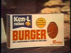 Ken-L Ration Burger Time 1977 TV commercial