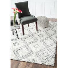 Living room rug | nuLOOM Layton White Shag Area Rug & Reviews | Wayfair