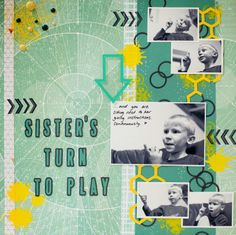 DT layout for 1-2-3 Get Scrappy! March challenge #Scrapbooking #layout