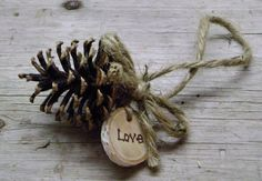 pinecone ornament. Decorating from nature this season...