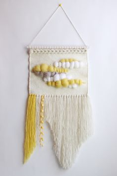 Weaving by Delekselja on Etsy https://www.etsy.com/listing/385321572/woven-wall-weaving-wall-hanging-wall