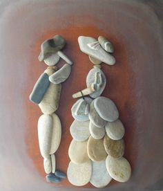 Live Stones by Erzsebet Szilajka: Quiet Stories Told by Sea Pebbles, фото № 9 Stone Crafts, Rock Crafts, Arts And Crafts, Pebble Pictures, Stone Pictures, Pebble Painting, Stone Painting, Art Pierre, Pebble Art Family
