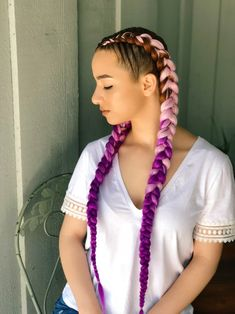Top 60 All the Rage Looks with Long Box Braids - Hairstyles Trends French Braids With Extensions, Braids With Weave, Colored Hair Extensions, White Girl Braids, Girls Braids, Baddie Hairstyles, Box Braids Hairstyles, Curly Hair Braids, Curly Hair Styles