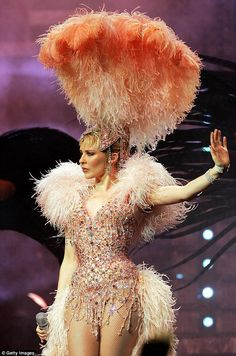 John Galliano - Costume de Scène - Kylie Minogue 'Showgirl' - The Homecoming Tour - 2006 Showgirl Costume, Vegas Showgirl, Burlesque Costumes, Burlesque Outfit, Circus Costume, Cabaret, Samba, Vintage Burlesque, Glamour
