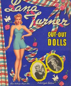 Lana Turner Paper Dolls, 1942 Whitman of Vintage Movie Stars, Classic Movie Stars, Vintage Movies, Vintage Paper Dolls, Vintage Barbie, Vintage Toys, Bobe, Lana Turner, Hooray For Hollywood
