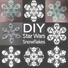 DIY Star Wars snowflakes - Becky, check these out!