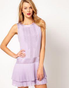 Karen Millen 20's Dress With Pleat Skirt