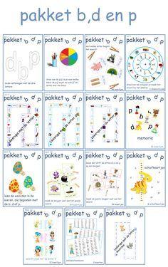 Prachtig pakket van 100 pagina's met allemaal verschillende oefeningen om de b,d en p te oefenen