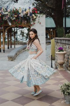 Simple Designer light blue color lehenga choli for bridal look.For order WhatsApp on draping styles dress for bride indian dresses indian teens wedding outfits sisters blouse designs indian with dress blouse designs dresses indian designs indian bridal Outfit Designer, Indian Designer Wear, Designer Dresses, Mehndi Outfit, Designer Bridal Lehenga, Anita Dongre, Brunch Outfit, Mehendi, Bridal Mehndi