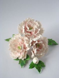 Mini Sugar Paste Peonies by Sugar_Flower, via Flickr