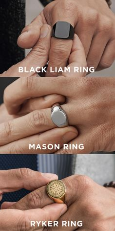 The Best Lucleon Rings — 2019 Bestsellers - Black Liam Ring Thick, comfortable and super stylish. This ring, crafted from superior surgical ste - Diy Jewelry Rings, Diy Jewelry To Sell, Jewelry Art, Jewellery, Man Dressing Style, Diy Jewelry Inspiration, Golden Jewelry, Chains For Men, Signet Ring