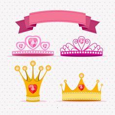 (4) la corona de la princesa de dibujos animados Vector Material PNG y Vector