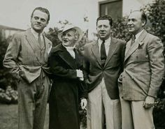 James Cagney, wife Billie, Frank McHugh, and Hugh O'Connell at Pat O'Brien's barbecue party in September, 1935. credit babyjane images.