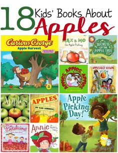 These apple-themed books are ripe for the pickin' and your little ones are sure to love them! | homeschoolpreschool.net