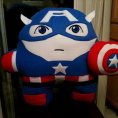 Captain America Pillow  (email:toonypillowplushies@gmail.com)